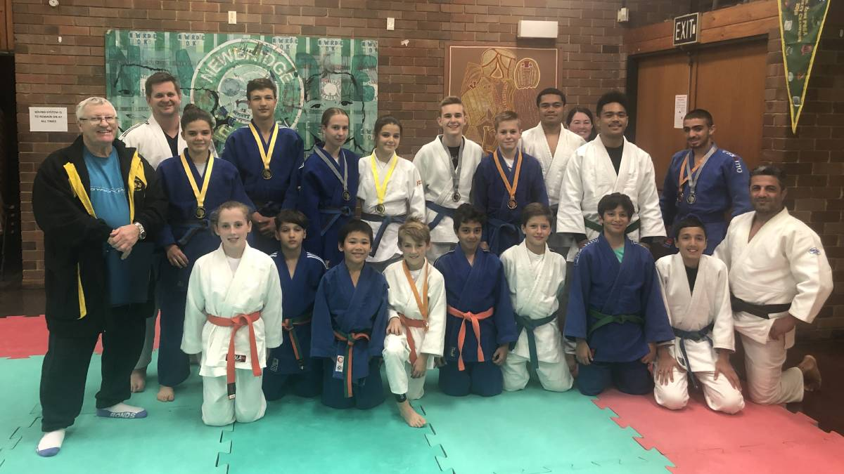 Success: Tiger-Do Martial Arts, founded by martial arts legend Terry Young, had 17 competitors at the recent National Judo Titles. The club was named Judo NSW's 2018 Junior Development Club of the Year.