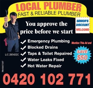 Plumbing LIC 285432CEmergency Plumbing  Blocked Drains Taps &